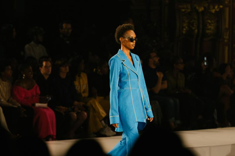 Pyer Moss Collection 3 New York Fashion Week Spring Summer 2020 Suit Blue
