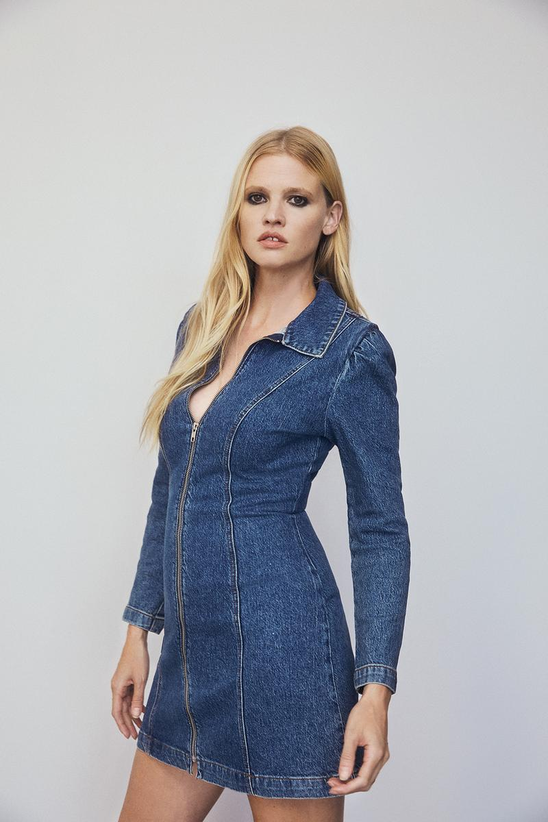 reformation fall ref jeans denim sustainability eco friendly collection lara stone fashion clothes dresses jackets jumpsuits