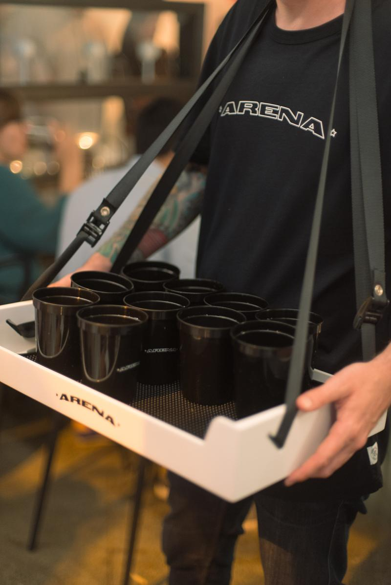 Reigning Champ AnnaLena Arena Dinner Series Sports Vancouver Canada Sportswear Brand Beer Cups