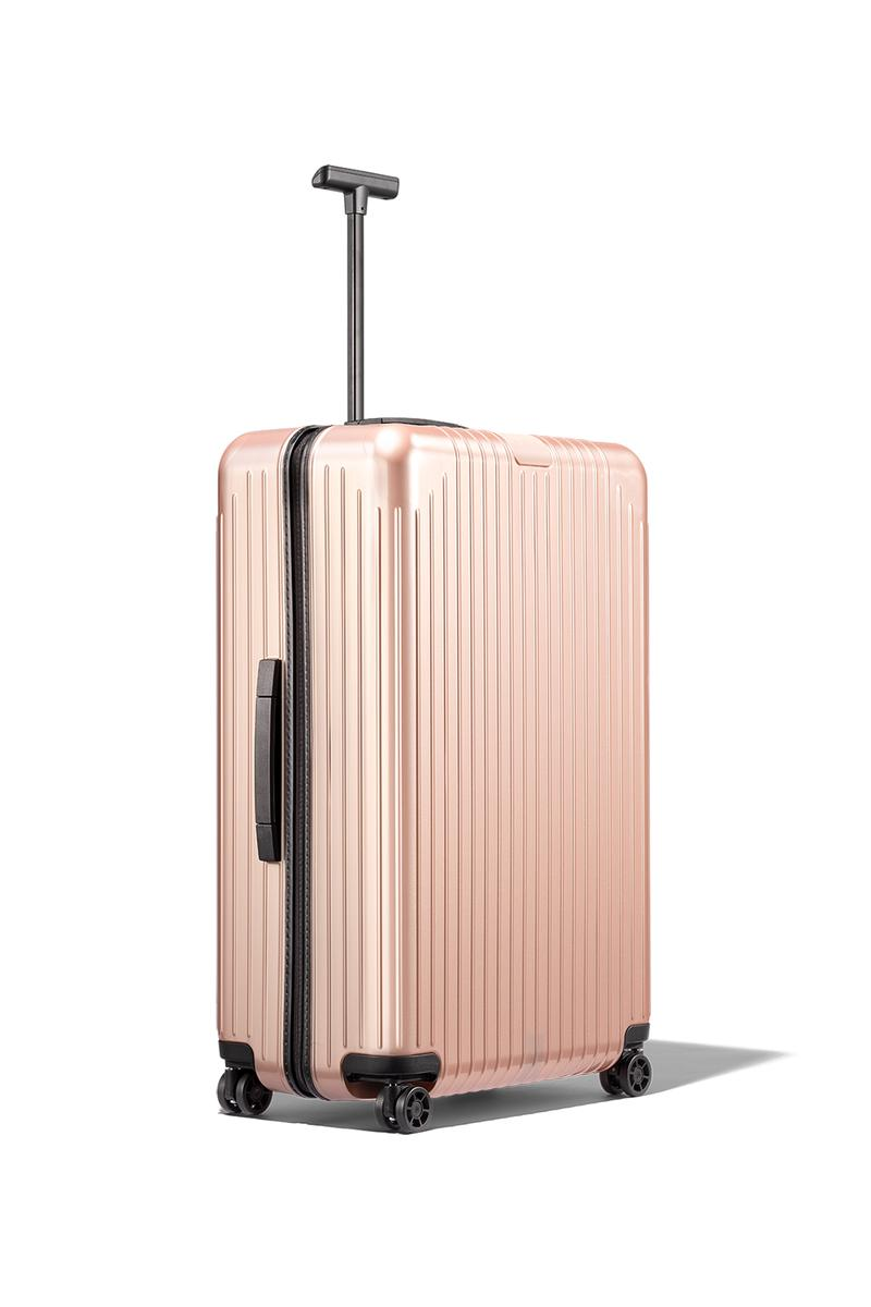 rimowa essential lite suitcase luggage bags rose gold pink black travel cabin check in