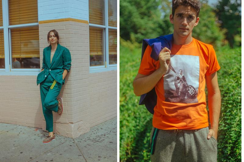 Rowing Blazers Fall Winter 2019 Lookbook Jacket Green Shirt Orange
