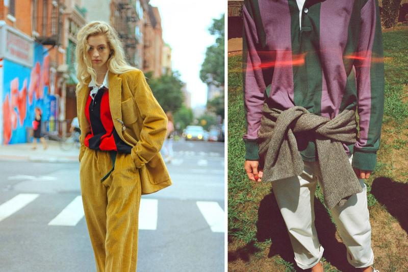 Rowing Blazers Fall Winter 2019 Lookbook Jacket Yellow Shirt Purple