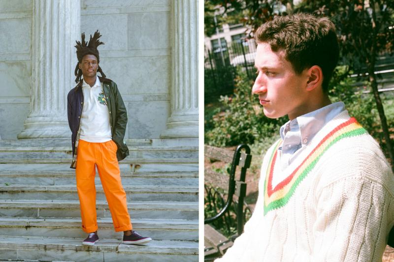 Rowing Blazers Fall Winter 2019 Lookbook Jacket Blue Pants Orange Sweater Cream