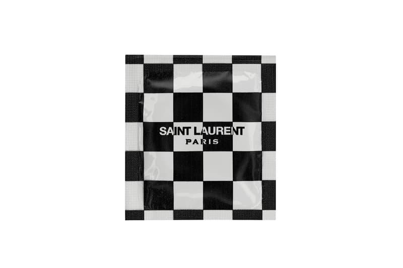 Saint Laurent YSL Condoms Packaging Checkered Black White