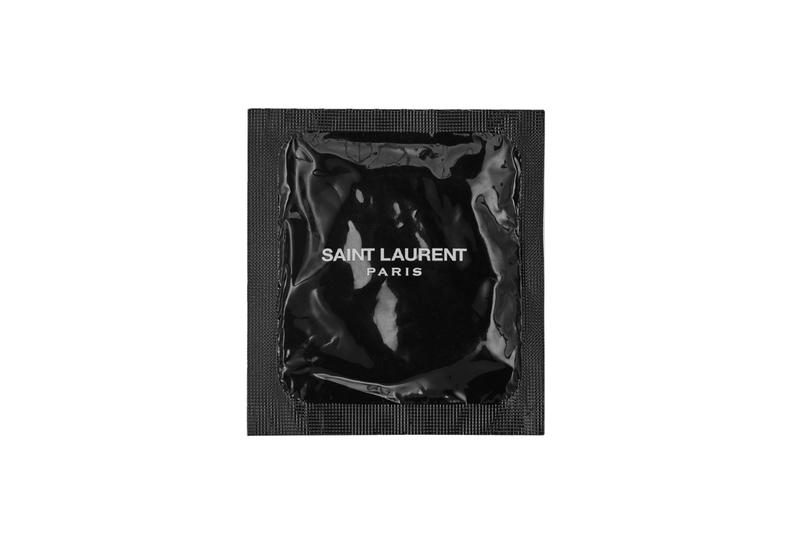 Saint Laurent YSL Condoms Packaging Black