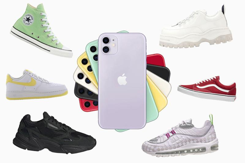 Apple iPhone 11 Matching Sneaker Colors Purple Green Yellow Pastel Red Black White Product(Red) Vans Old Skool Nike Air Max 98 Air Force 1 adidas Originals Falcon Eytys Angel Converse chuck taylor all star