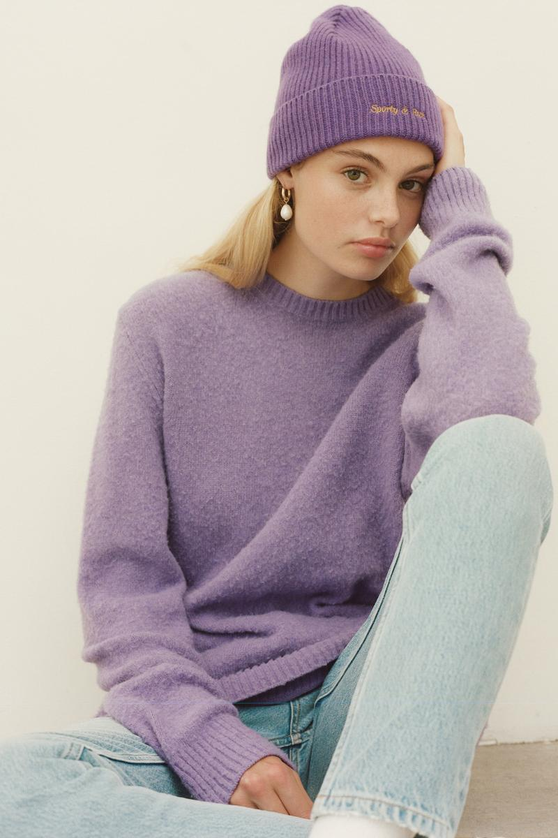 Sporty & Rich x Harmony Emily Oberg Collaboration Lookbook Collection Sweaters Logo Knits Beanie