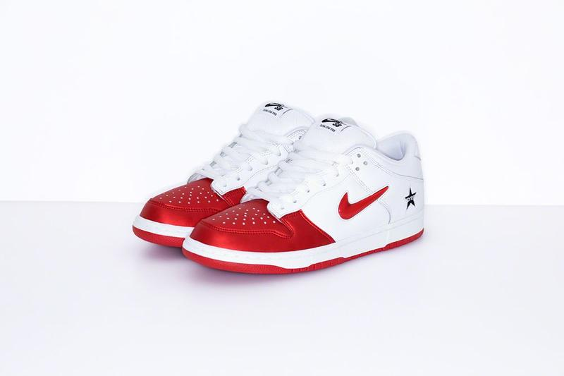 Supreme x Nike SB Dunk Low Collaboration Red White