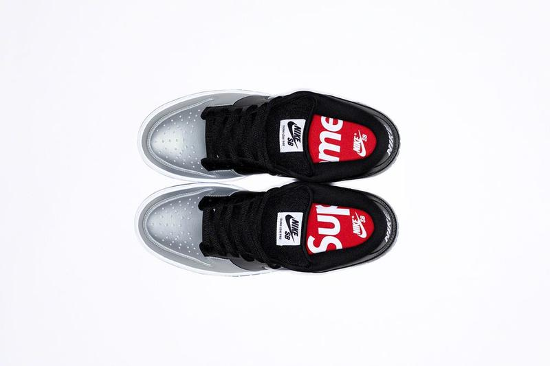 Supreme x Nike SB Dunk Low Collaboration Silver Black