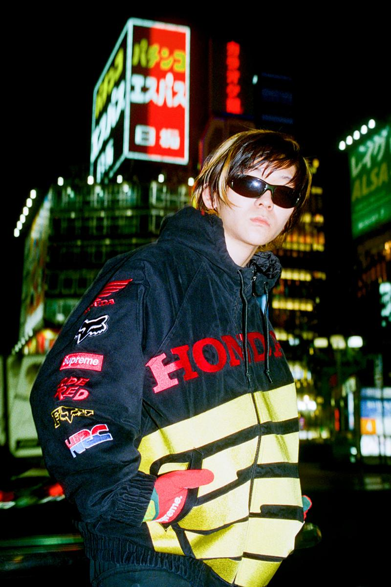 supreme honda fox racing fall winter collection jackets sweatshirts pants goggles gloves helmets