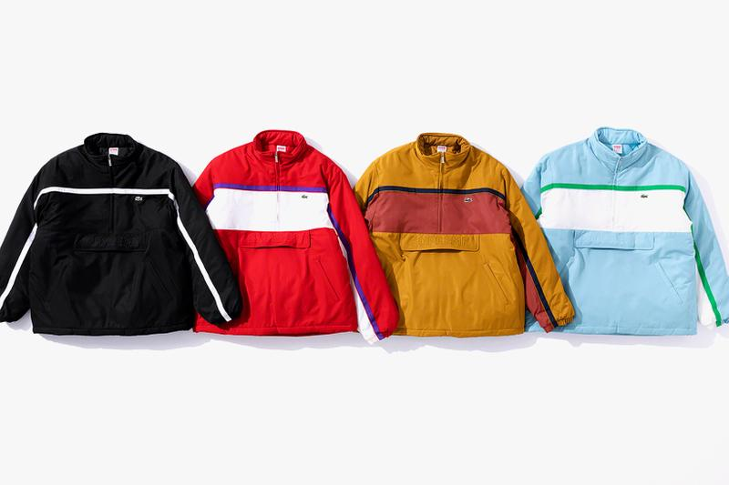 supreme lacoste fall winter collection jackets hoodies pants hats beanies release date clothes fashion