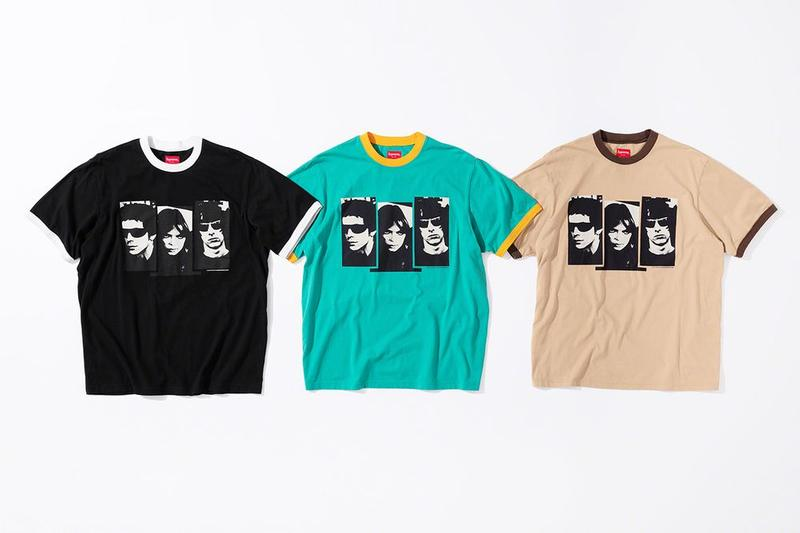 Supreme x The Velvet Underground Fall 2019 Collection T Shirts Black Teal Tan