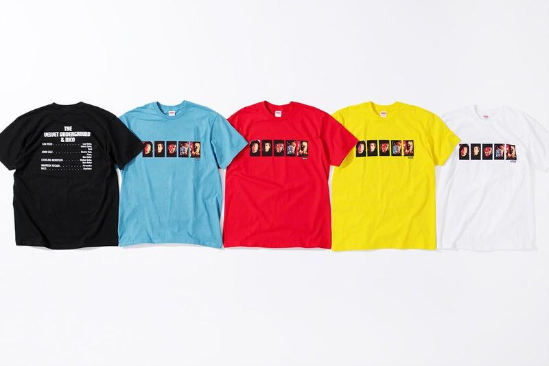 Supreme x The Velvet Underground Fall 2019 Collection T Shirts Black Blue Red Yellow White