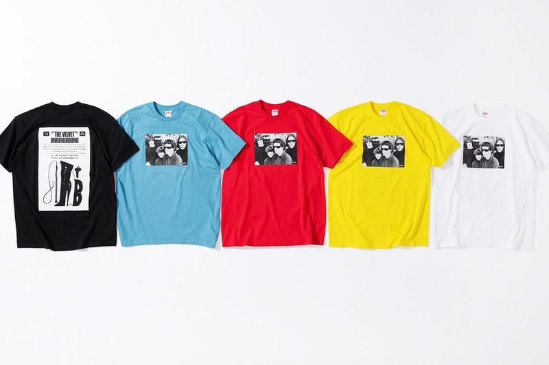 Supreme x The Velvet Underground Fall 2019 Collection T Shirt Black Blue Red Yellow White
