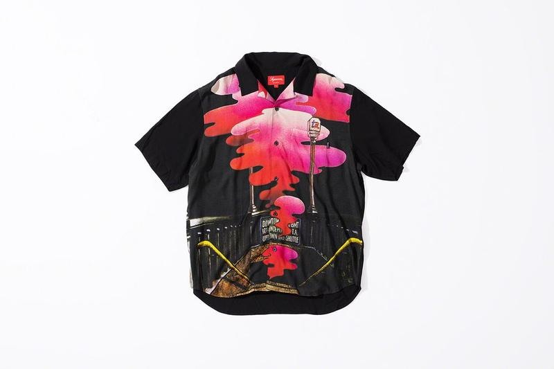 Supreme x The Velvet Underground Fall 2019 Collection Collared Shirt Black Pink