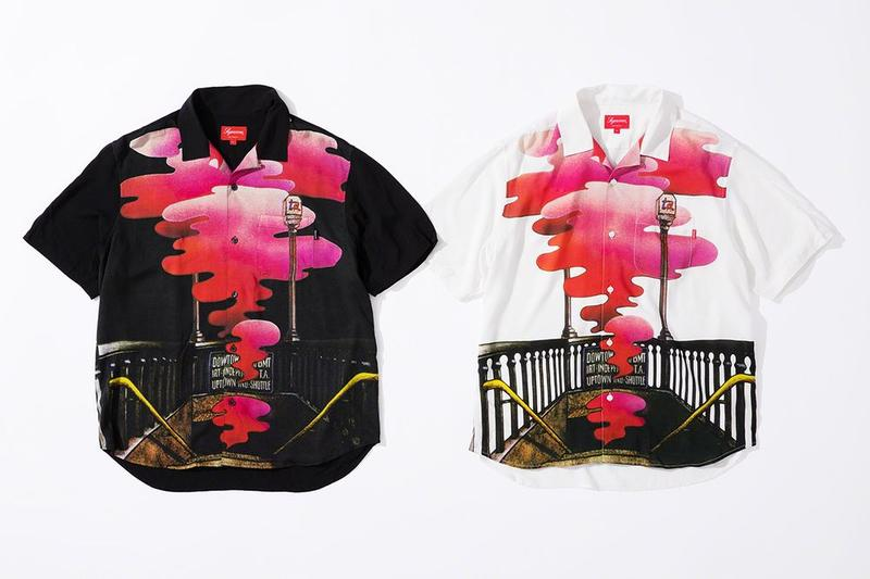 Supreme x The Velvet Underground Fall 2019 Collection Collared Shirts White Black Pink
