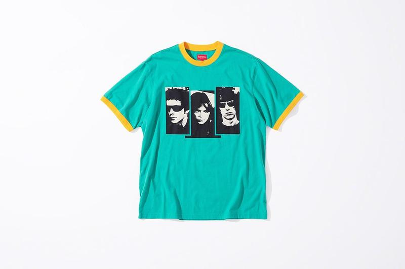 Supreme x The Velvet Underground Fall 2019 Collection T Shirt Teal
