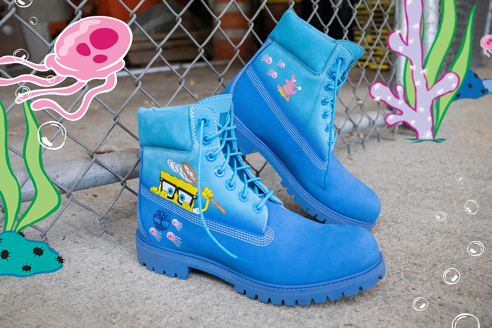 'SpongeBob SquarePants' x Timberland Unveil Their Waterproof Boots Collection