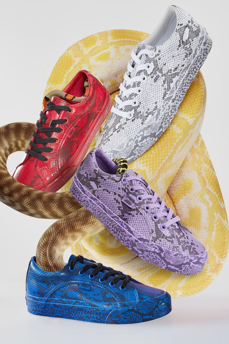 Vans x Opening Ceremony Lampin Snakeskin Pack White Red Purple Blue