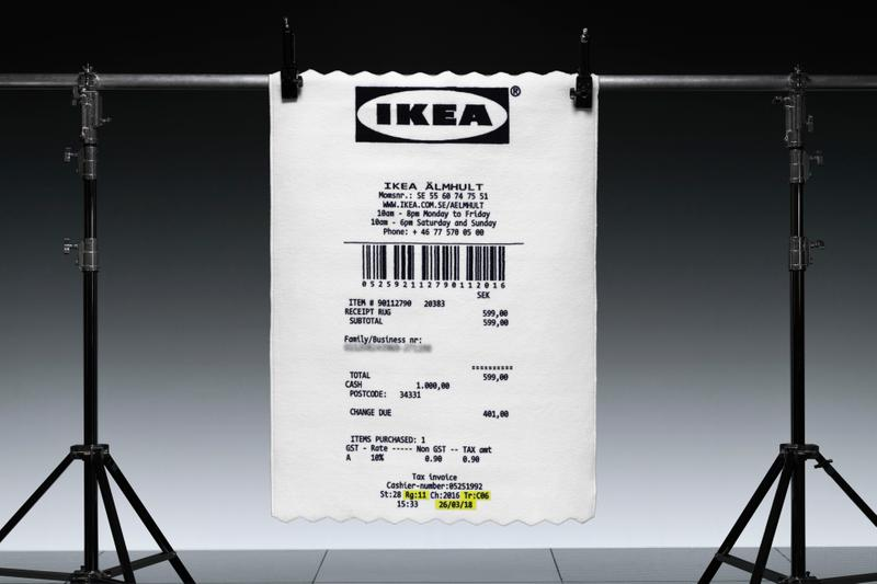 Virgil Abloh x IKEA London Fashion Weeek Pop-Up MARKERAD Collection Furniture Rugs Carpet Collection Off-White Branding Release Date