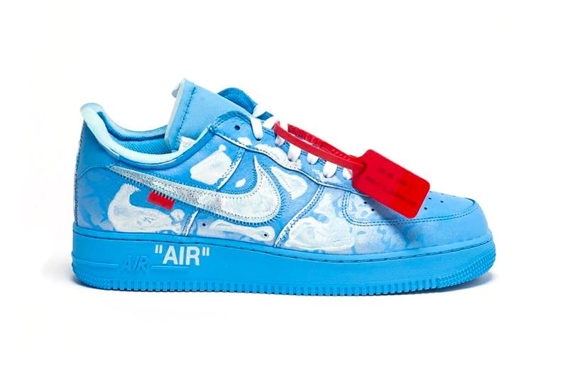 virgil abloh mca chicago cassius hirst nike air force 1 07 sneakers collaboration blue release footwear shoes sneakerhead