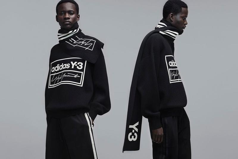 Y-3 Fall Winter 2019 Campaign Sweater Scarf Black