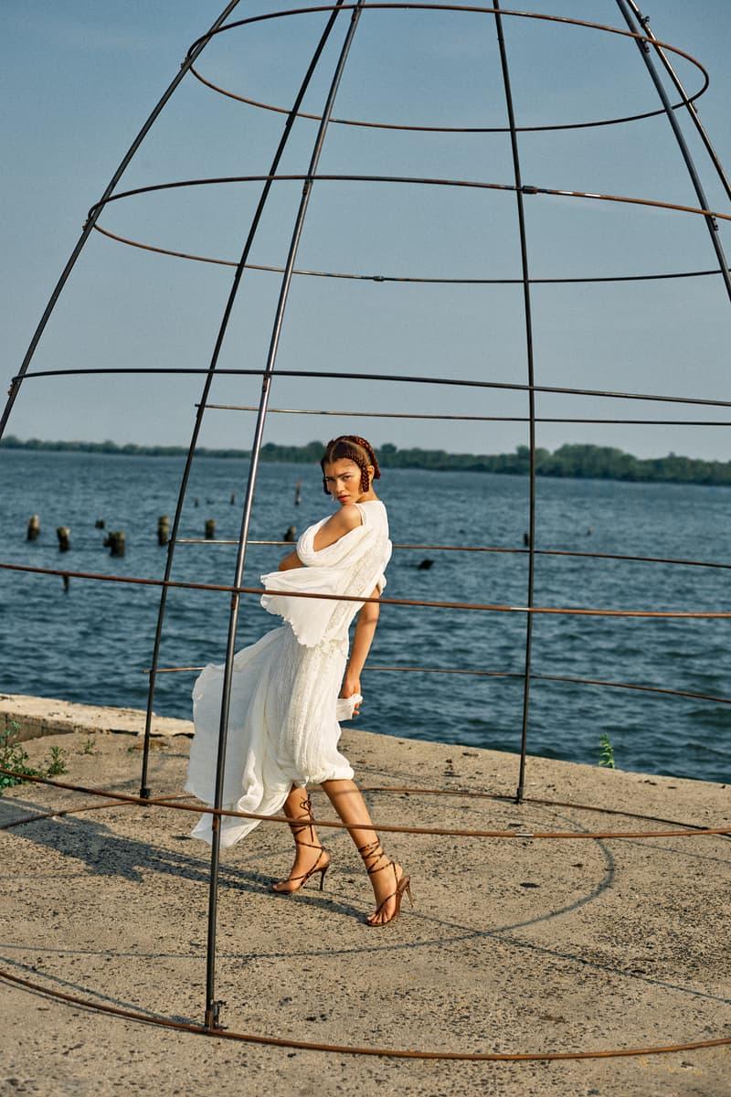 Zendaya GARAGE Magazine Cover Dress White