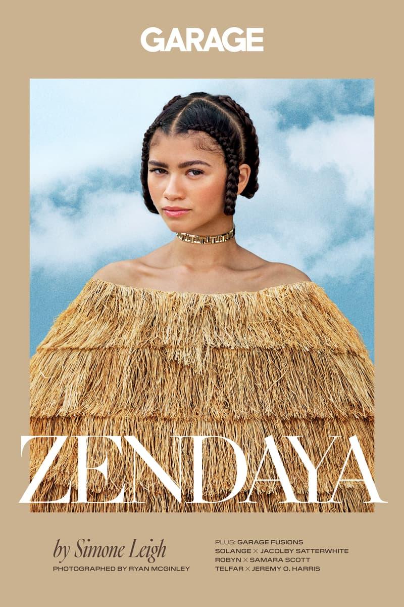 Zendaya GARAGE Magazine Cover Simone Leigh Sculpture Tan