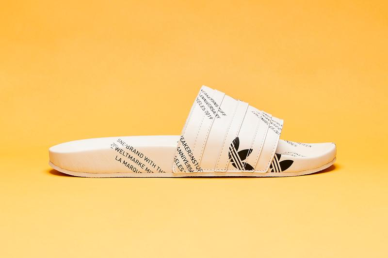 Sneakersnstuff x adidas Adilette Slide 20th Anniversary