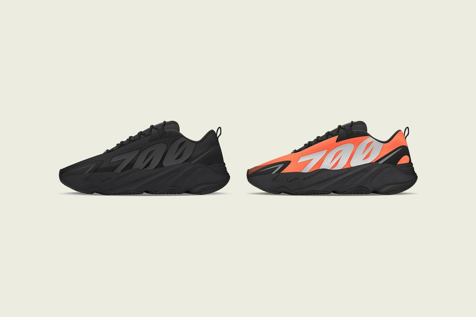 """Peep the Upcoming adidas YEEZY BOOST 700 MNV in """"Triple Black"""" and """"Orange"""""""