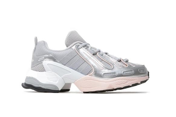 adidas Originals EQT Gazelle Sneaker Pastel Pink Silver Grey Shoe Trainer Futuristic Chunky Silhouette
