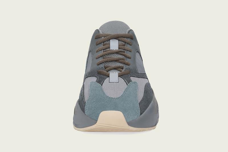 "adidas YEEZY BOOST 700 ""Teal Blue"" Release Date Kanye West adidas Originals Drop Grey Blue Orange Chunky Shoe"
