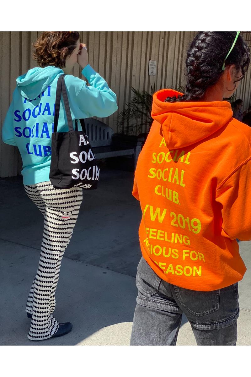 anti social club assc fall winter collection feeling anxious for no reason hoodies t-shirts jackets