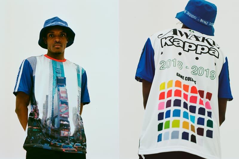 awake ny kappa fall winter capsule collection 90s retro sportswear jackets jerseys bucket hats angelo baque