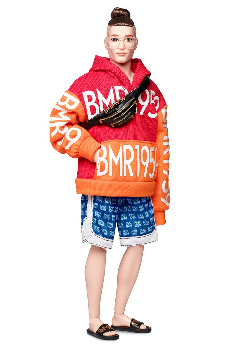 barbie bmr1959 streetwear collection hoodies denim jackets overalls bike shorts fanny pack shades shoes heels sneakers cap hat dolls