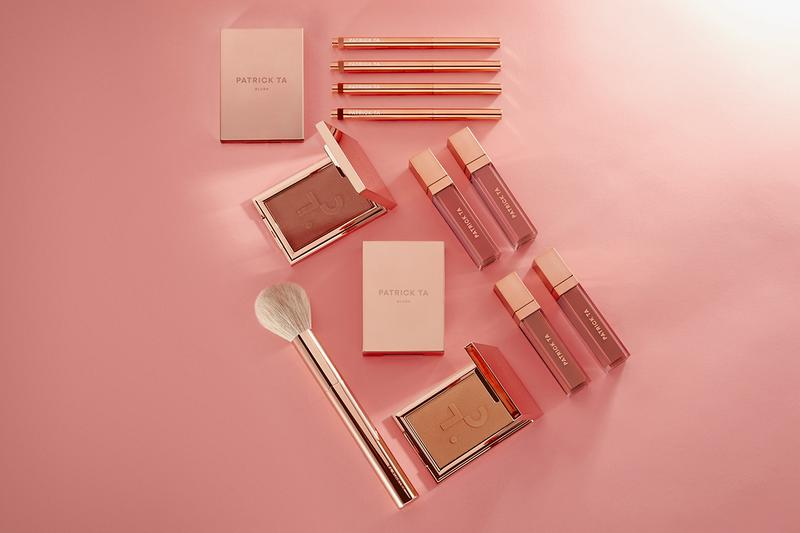 Patrick Ta Beauty Monochrome Moment Makeup collection lip creme lipstick blush crayon brush pink mauve rose gold