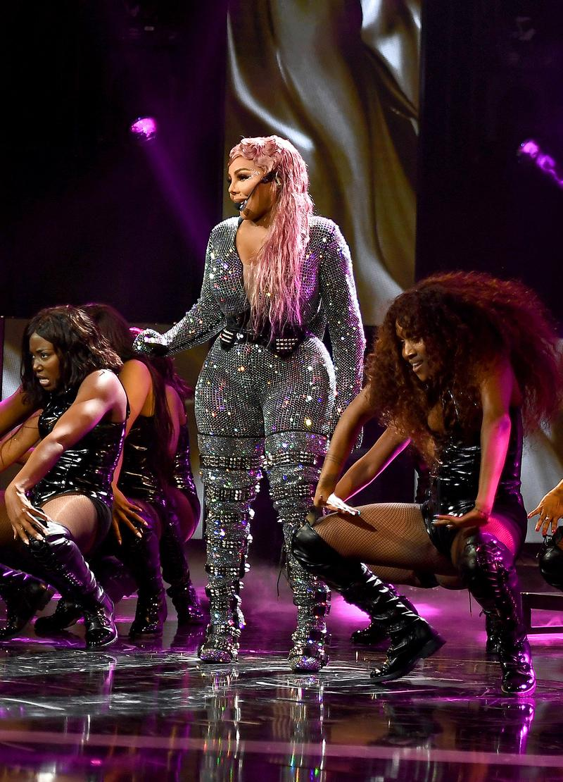 Lil Kim BET Hip Hop Awards 2019 Performance Outfit Pink Hair