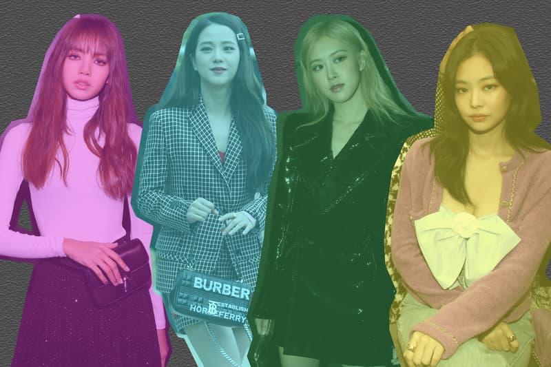 BLACKPINK Lisa, Jennie, Jisoo, Rosé Fashion Month Saint Laurent CELINE Chanel Burberry Fashion Week Shows Social Media K-Pop