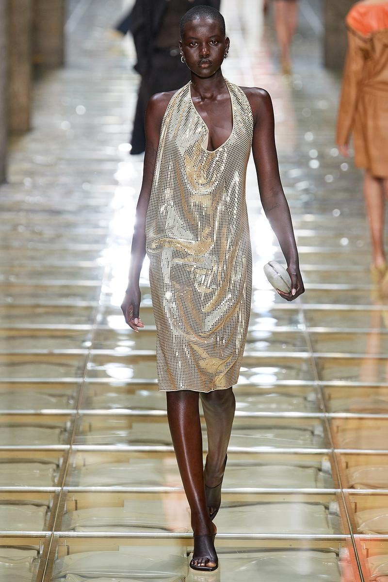adut akech bottega veneta daniel lee spring summer 2020 milan fashion week runway show