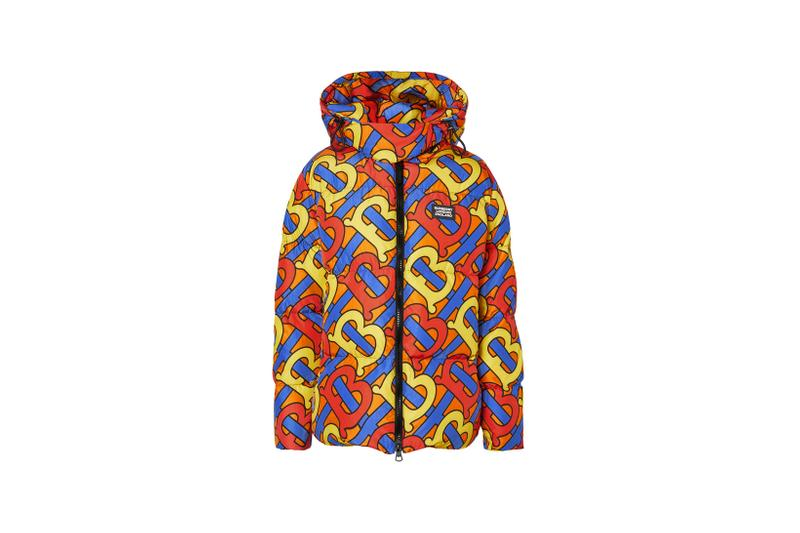 Burberry Monogram Print Puffer Jacket Multicolor