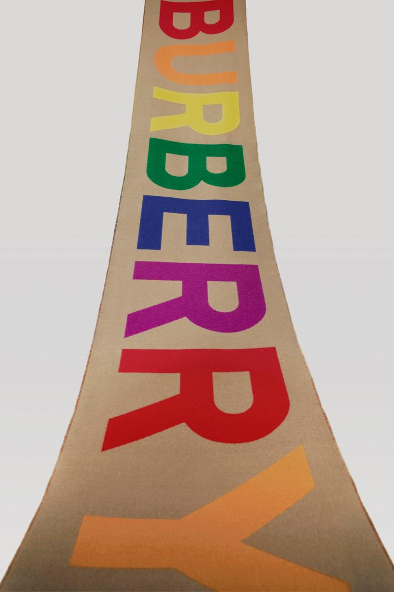 Burberry Rainbow Logo Scarf B-Series Release Riccardo Tisci Design Exclusive Limited Edition