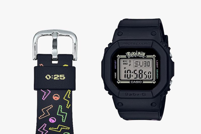 casio g shock baby g pikachu pokemon womens watch black