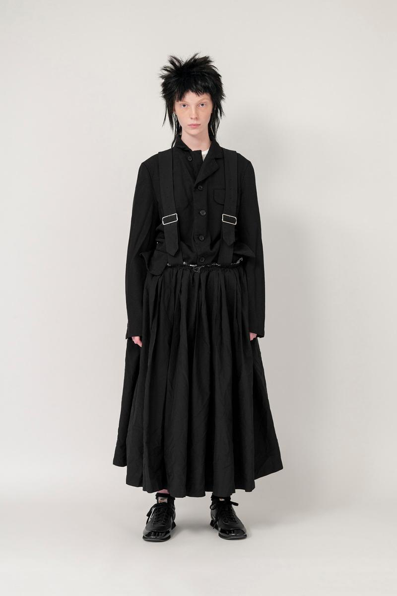 Nike x BLACK COMME des GARCONS Fall/Winter 2019 Collection Suspender Skirt Shirt Black Womens