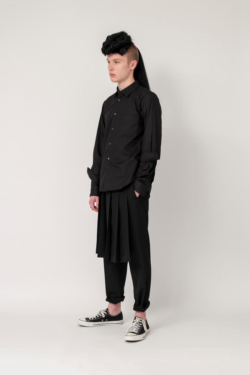 Nike x BLACK COMME des GARCONS Fall/Winter 2019 Collection Shirt Skirt Trousers Black Mens