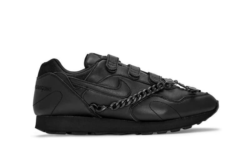 COMME des GARÇONS x Nike Outburst Release Date Sneaker Trainer Silhouette Chain Detachable Shoe COllaboration Frieze Week Dover Street Market London