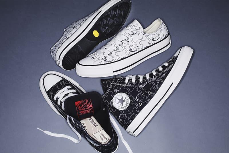 converse addict undercover jun takahashi teddy bear chuck taylor all star sneakers black white japan shoes footwear sneakerhead