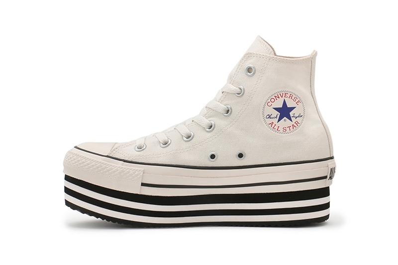 converse all star chunky line hi chuck taylor womens sneakers white black shoes footwear sneakerhead