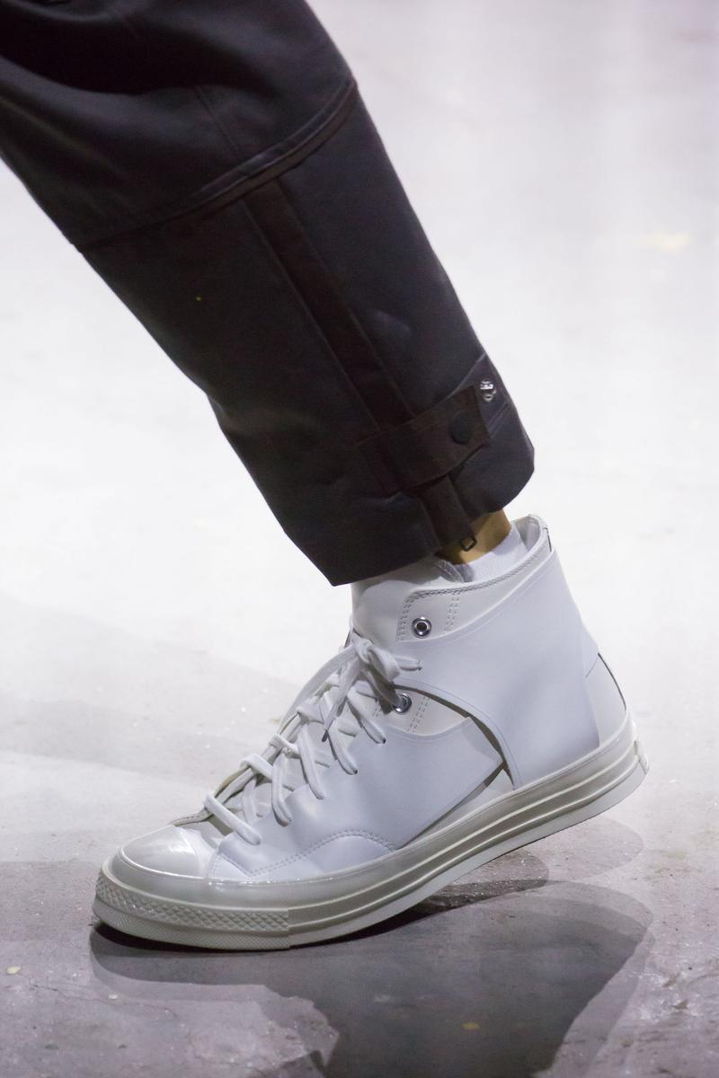 Feng Chen Wang Debuts New Converse Collaboration Shanghai Fashion Week Runway Collection Sneaker Shoe White Black Chuck Taylor One Star Jack Purcell