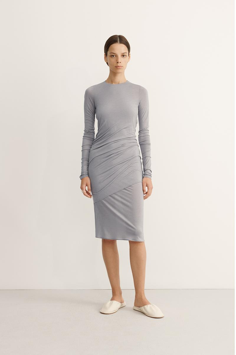 COS Spring Summer 2020 Collection Lookbook Jersey Dress Pewter