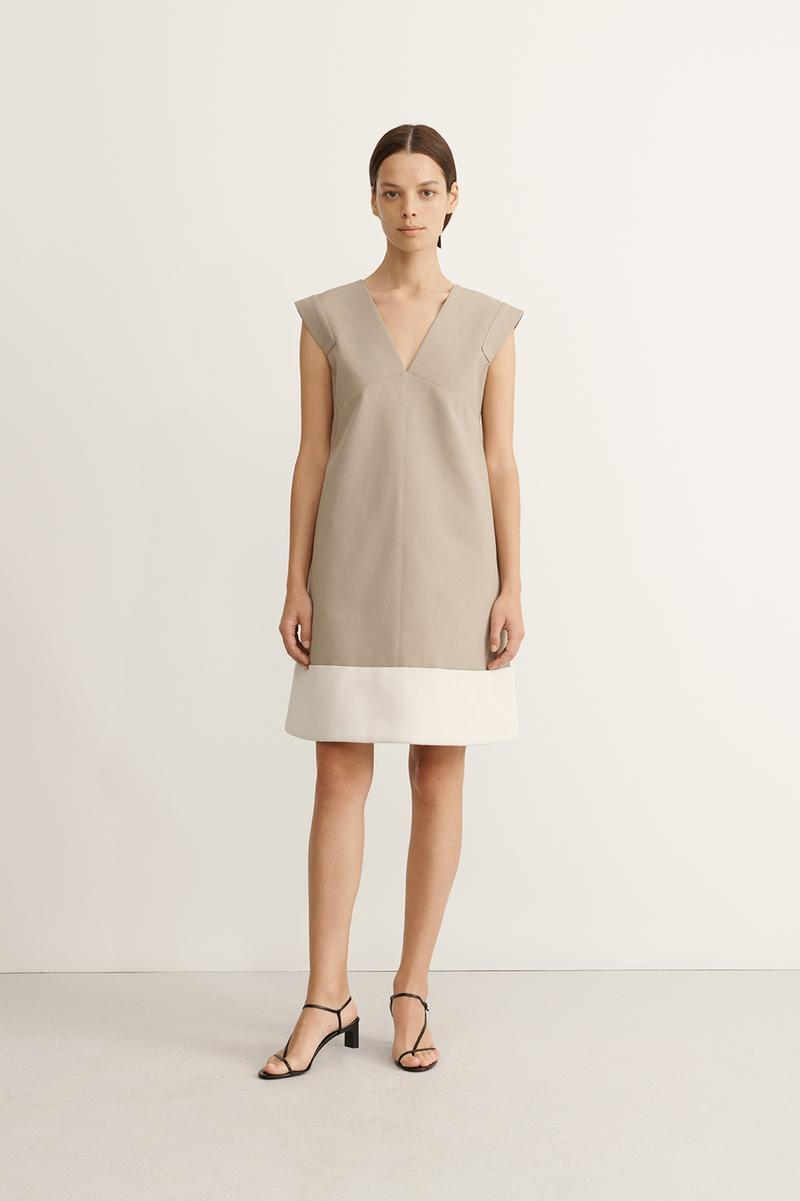 COS Spring Summer 2020 Collection Lookbook Cotton Mini Dress Pale Khaki